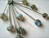 lightning storm necklace - labradorite mod necklace, sunburst, handmade, organic, ethereal, N12