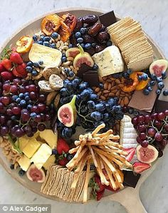 Alex Cadger, is the founder of Sydney catering business, The Blonde Butler. Here, he chats to FEMAIL about the secrets to the perfect platter. Charcuterie Board Meats, Plateau Charcuterie, Charcuterie Recipes, Charcuterie And Cheese Board, Cheese Boards, Party Food Platters, Party Dishes, Cheese Platters, Antipasto