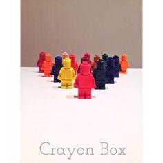 Set of 6 Lego men crayons by Crayon Box My Building, Wax Crayons, Lego Man, Crayon Box, Huckleberry, Legos, Boy Or Girl, Toys, Cute