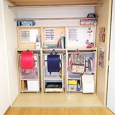 My Shelf/クローゼット/カラーボックス/子供部屋/ランドセル/DIY...などのインテリア実例 - 2017-09-06 15:21:37 Kids Bedroom, Bedroom Decor, Box Shelves, Closet Organization, Bed Design, Girl Room, Diy For Kids, Interior Inspiration, Small Rooms