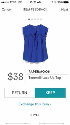 Papermoon Tenerelli Lace Up Top   I love Stitch Fix! A personalized styling service and it's amazing!! Simply fill out a style profile with sizing and preferences. Then your very own stylist selects 5 pieces to send to you to try out at home. Keep what you love and return what you don't. Only a $20 fee which is also applied to anything you keep. Plus, if you keep all 5 pieces you get 25% off! Free shipping both ways. Schedule your first fix using the link below! #stitchfix @stitchfix…