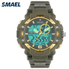 8fc65a3db72 SMAEL Sports Watches Men S Shock LED Digital Military Watches G Style 50m  Waterproof Wristwatch 1379 montre homme Military Watch