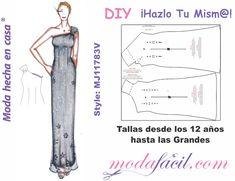 Moldes de vestido de fiesta con hombro descubierto mj1183v