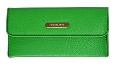 Michael Kors Palm Leather Austin Flap Continental Wallet Bag Purse