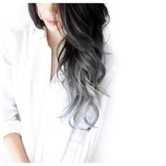Her hair, hair and nails, black and silver hair, silver ombre hair, Bad Hair, Hair Day, Grey Balayage, Pretty Hairstyles, Latest Hairstyles, Hairstyles Haircuts, Hair Looks, Gorgeous Hair, Hair Inspiration