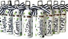 These would be great to give to members of a cheerleading squad, dance team, athletic team,  you get the idea! www.toochicgifts.com