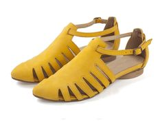 NEW ARRIVALS Alice Yellow shoes Flats Leather by TamarShalem, $189.00