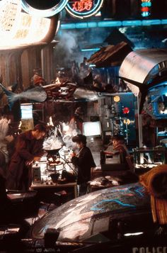 Blade Runner - The marketplace.