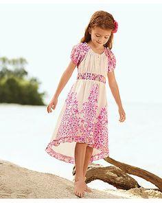 trailing vines girls dress