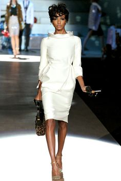 #fashion #white dress DSquared2 Fall 2012