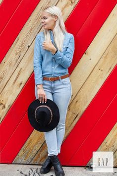 Denim for days. Musician and founder of The Giving Keys Caitlin Crosby rocks our resolution true skinny jeans for a day in L.A. Shop her look from Gap.   #lyoness