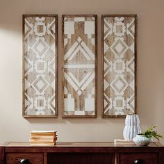 Shop Madison Park Gabbie Natural Wood Wall Decor Set of 3 - On Sale - Overstock - 16071609 Diy Wood Wall, Wooden Wall Decor, Wall Decor Set, Wooden Walls, Metal Walls, Wooden Art, Affordable Wall Art, Asian Home Decor, Panel Wall Art