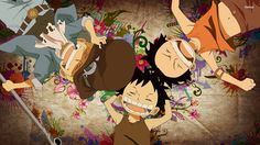 One Piece Luffy, Ace and Sabo Wallpaper