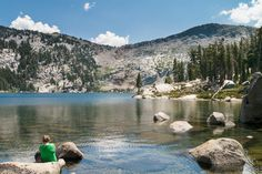 Oval-shaped Dicks Lake is one of the scenic gems of the Desolation Wilderness.