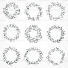 how to draw a wreath - Google Search