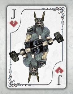 Cards for Conquerors, BICYCLE® - Viking Playing Cards by Scott King — Kickstarter