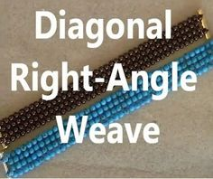 Diagonal Right Angle Weave (Item ID: 326268, End Time : N/A) - DIY Lessons - Learn Jewelry Making With Online Lessons, Videos and PDF Tutorials