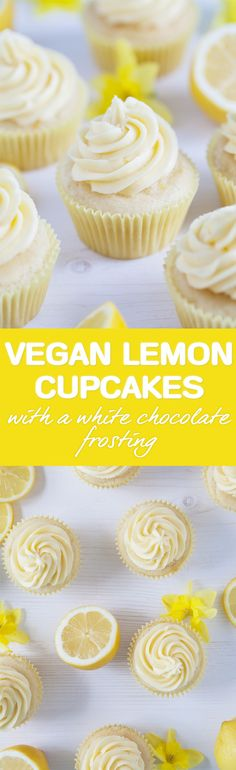 Lemon cupcakes with a white chocolate frosting / Vegan, gluten-free / Goodness is Gorgeous