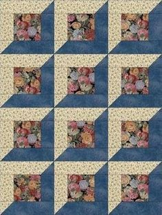 Risultato immagine per 12 Simple Quilt Block Patterns Quilt Blocks Easy, Quilt Block Patterns, Pattern Blocks, Simple Quilt Pattern, Quilt Kits, Quilt Tutorials, 3d Quilts, Panel Quilts, Barn Quilts