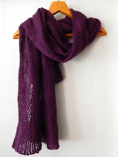 Knitted purple mohair wrap, mohair lace wide scarf, violet color, woman knitted scarf, angora scarf, knitted woman scarf by SanniKnitting on Etsy
