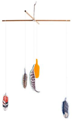 feather mobile... i want one of these for myself!