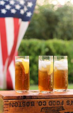 Fourth of July--Iced Tea is my drink of choice. It is perfect for an outdoor get together and sure beats coffee is the hot weather.