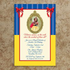Snow White Invitation  Snow White Birthday by DesignsWithStyle, $22.00