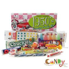 50's Party - good candy ideas...