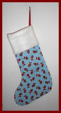 Button Fayre fleece topped Christmas stocking