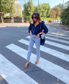 Outfit Look, Outfit Of The Day, Street Style, Work Looks, Outfit Posts, Mom Jeans, Summer Outfits, Spring Summer, Ootd