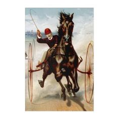 Vintage Harness Racing Acrylic Wall Art - horse animal horses riding freedom