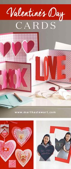Valentine's Day Cards | Martha Stewart Living - Show how much you care with a handmade card.