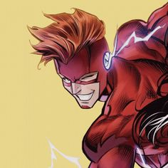 WALLY ✨ Dc Batgirl, Nightwing, Kid Flash, Flash Art, Fotos Do Flash, Wally West And Artemis, Wallace West, Dc Speedsters, Flash Drawing
