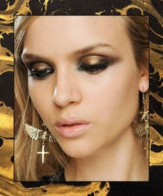 Shimmery Holiday Makeup Looks - Gilded Smoky Eye