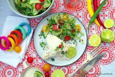 Huehnchen mit Walnusssoße und scharfem Gurkensalat #gourmetguerilla #rezept #mexikanisch