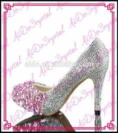 Aidocrystal FASHION women crystals rhinestones bridal wedding high heel Shoes ladies fashion pumps