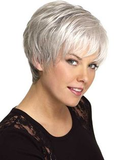 short hairstyles for grey hair - Google Search
