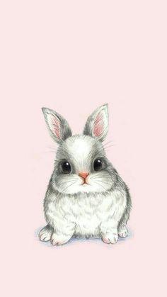 Dagi cute bunny drawing, rabbit drawing ve drawing Baby Animal Drawings, Cute Animal Drawings Kawaii, Animal Sketches, Kawaii Drawings, Cute Drawings, Cute Disney Wallpaper, Kawaii Wallpaper, Tumblr Wallpaper, Cute Cartoon Wallpapers