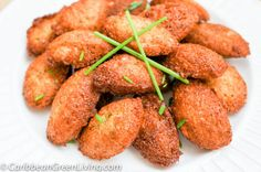 Haitian Accra made with malanga/yautia mixed with spices and fried in hot oil or bake. The perfect appetizer