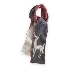 Art Deco Deer USA-made Recycled Scarf in Holiday 2012 from Fair Indigo on shop.CatalogSpree.com, my personal digital mall.