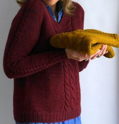 Brookings by Marie Greene [Olive Knits]. Top-down, seamless knitting pattern.