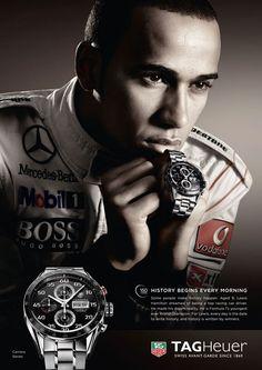 #LewisHamilton Vodafone Mc Laren #Mercedes F1 driver and @TAG Heuer brand ambassador