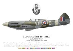 RAF, Spitfire Mk XIV RM678, piloté par le F/S de Vries, No 322 (Dutch) Squadron, 1944. Air Force Aircraft, Ww2 Aircraft, Fighter Aircraft, Military Aircraft, Fighter Jets, Aviation Theme, The Spitfires, Supermarine Spitfire, Ww2 Planes