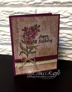 Wood Textures Designer Paper: The Ultimate Masculine Paper - Stampin' Studio Hand Stamped Cards, Stamping Up Cards, Masculine Cards, Creative Cards, Flower Cards, Paper Design, Cardmaking, Stampin Up, Birthday Cards