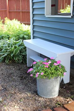 Happy At Home: A Simple Garden Bench Tutorial