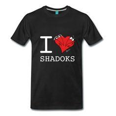 Le I Love Shadoks , spécialement fait pour vêtements sombres, d'après la série d'animation culte créée par Jacques Rouxel, (c) aaa production