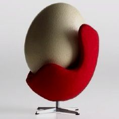Egg with egg chair
