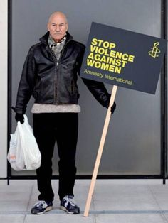 Patrick Stewart. More info here: http://www.amnesty.org.uk/content.asp?CategoryID=10633