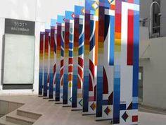 AMIA Art by Yaacov Agam, 2 Yaacov Agam, Urban Intervention, Jewish Art, Art Programs, Installation Art, Art Installations, Teaching Art, Op Art, Deco
