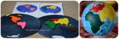 diy montessori continents puzzle map and globe